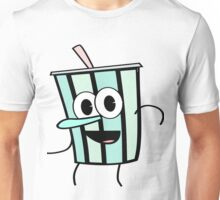 Funny Animinated Cool Drink Cup  Unisex T-Shirt