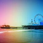 Santa Monica Pier Rainbow Colors by stine1