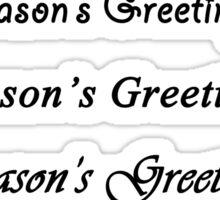 Season's Greetings - Black Text Sticker