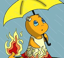 Charmander in the Rain by MysticSanctuary