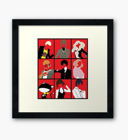 Persona 5 cast Framed Print