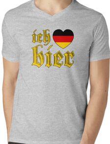 Classic Ich Liebe Bier I Love Beer Mens V-Neck T-Shirt