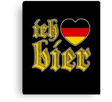 Classic Ich Liebe Bier I Love Beer Canvas Print