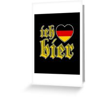 Classic Ich Liebe Bier I Love Beer Greeting Card