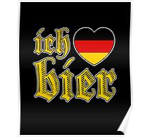 Classic Ich Liebe Bier I Love Beer Poster