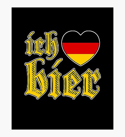 Classic Ich Liebe Bier I Love Beer Photographic Print