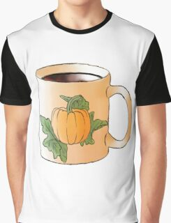 Fall Coffee Cup Graphic T-Shirt