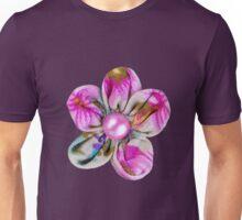 Pink, purple, yellow flowers Unisex T-Shirt