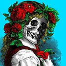 Skull faced girl by monsterplanet