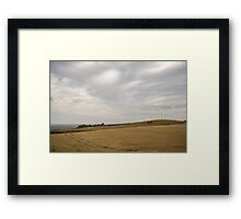Farming by the Castle -  Framed Print