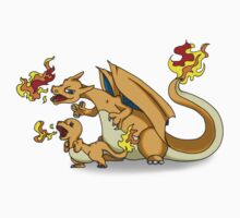 Charizard and Baby Charmander Fire Lesson Kids Clothes
