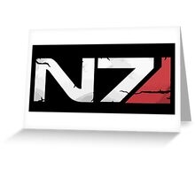 N7 Greeting Card