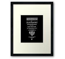 Shakespeare Love's Labors Lost Frontpiece - Simple White Version Framed Print