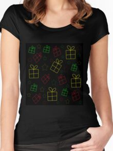 Xmas gifts pattern Women's Fitted Scoop T-Shirt