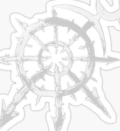 Mark of Chaos - Slaanesh (white) Sticker