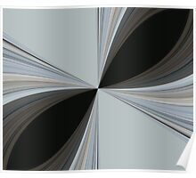 Brown and Grey Tones of Eucalyptus Swirl Pattern Poster