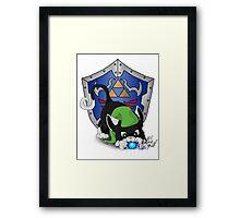 Black Cat Link Eats Navi Framed Print