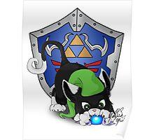 Black Cat Link Eats Navi Poster