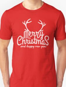 Merry Christmas Happy New Year Unisex T-Shirt