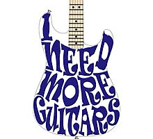 I need more guitars Photographic Print