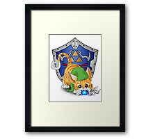 Orange Cat Link Eats Navi Framed Print