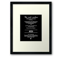 Shakespeare Merchant of Venice Frontpiece - Simple White Version Framed Print