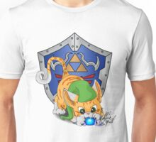 Orange Cat Link Eats Navi Unisex T-Shirt