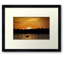 Sun Setting at Point Walter Reserve, W.A. Framed Print