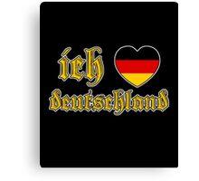 Classic Ich Liebe Deutschland I Love Germany Canvas Print