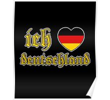 Classic Ich Liebe Deutschland I Love Germany Poster