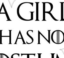 A Girl Has No Costume Sticker