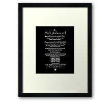 Shakespeare Merry Wives of Windsor Frontpiece - Simple White Version Framed Print