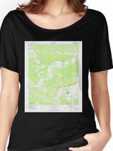 USGS TOPO Map Arkansas AR Haskell 258687 1974 24000 Women's Relaxed Fit T-Shirt