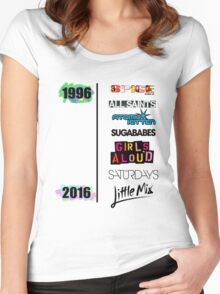 20 years of Girls Bands Women's Fitted Scoop T-Shirt