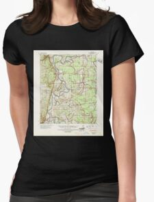 USGS TOPO Map Arkansas AR Whitmore 260372 1940 62500 Womens Fitted T-Shirt