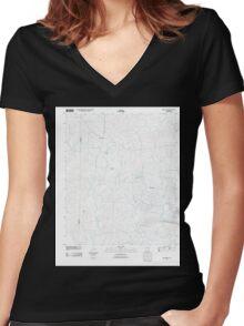 USGS TOPO Map Arkansas AR Marysville 20110711 TM Women's Fitted V-Neck T-Shirt
