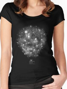 Galaxy Ballon Women's Fitted Scoop T-Shirt