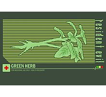 Resident Evil Green Herb Photographic Print