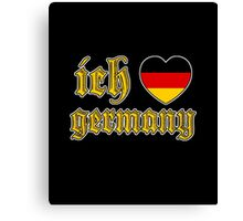 Classic Ich Liebe - I Love Germany Canvas Print