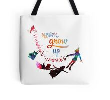 Never Grow Up Nebula Galaxy  Tote Bag
