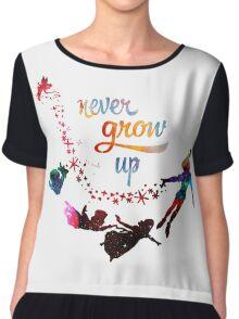 Never Grow Up Nebula Galaxy  Chiffon Top