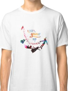 Never Grow Up Nebula Galaxy  Classic T-Shirt