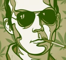 Hunter S. Thompson 420 Sticker