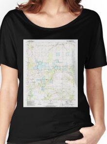USGS TOPO Map Arkansas AR Hickory Plains 258727 1994 24000 Women's Relaxed Fit T-Shirt