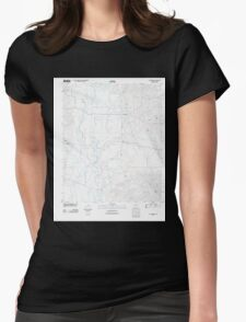 USGS TOPO Map Arkansas AR Lockesburg 20110711 TM Womens Fitted T-Shirt