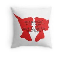 Second Star To The Right Peter Pan  Throw Pillow