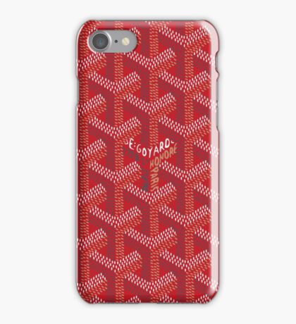 goyard phone case red iPhone Case/Skin