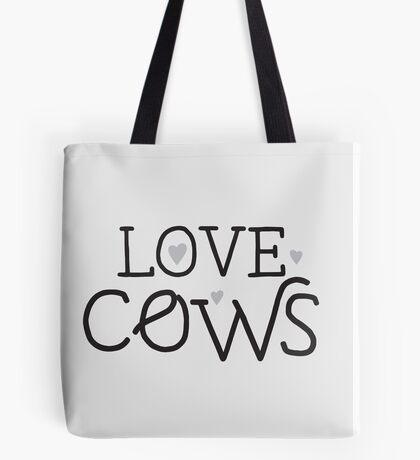 LOVE COWS Tote Bag