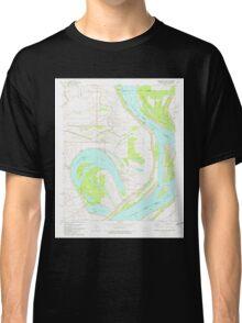 USGS TOPO Map Arkansas AR Horseshoe Lake 258762 1981 24000 Classic T-Shirt