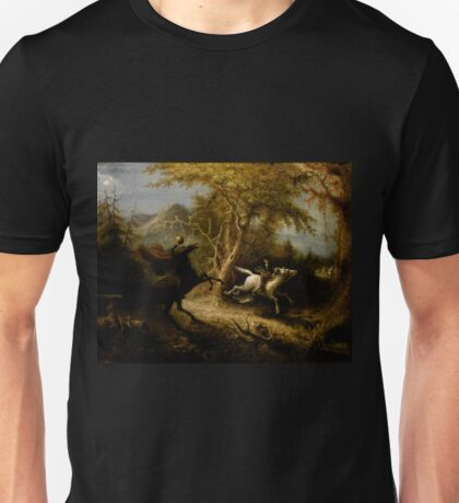 The Headless Horseman and Ichobad Crane. Unisex T-Shirt